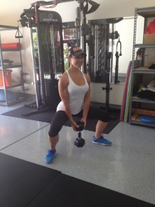 PLIE SQUAT WITH DUMBBELL