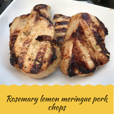 Rosemary Lemon Meringue Pork Chops - Gina Aliotti Fitness