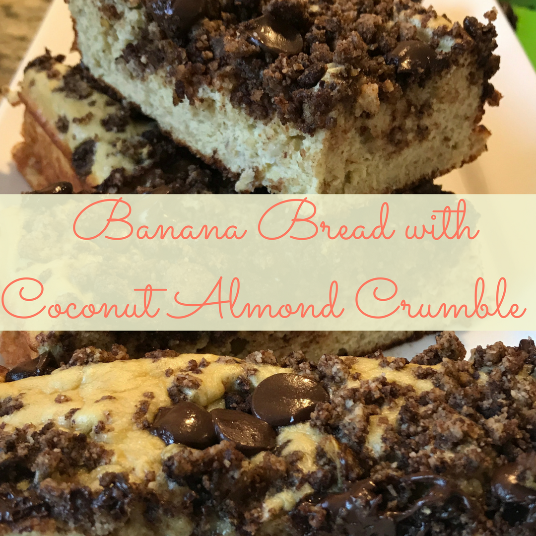Banana Bread with Almond Coconut Crumble