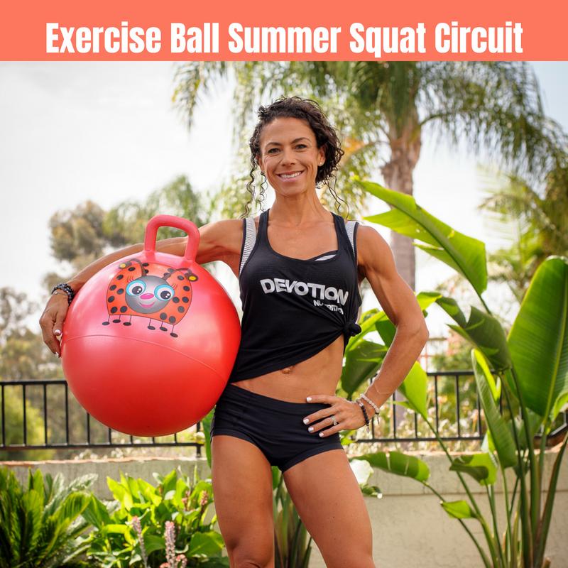 Exercise Ball Summer Squat Circuit