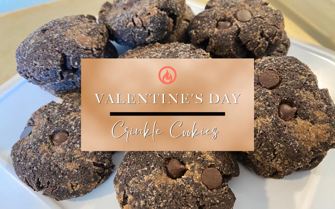 Valentine's Crinkle Cookies